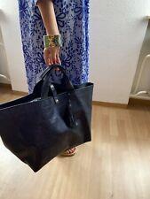 Shopper Leder geprägt Echtleder Strandtasche Unikat Handmade