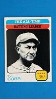1973 TOPPS BASEBALL #475 TY COBB ALL TIME BATTING LEADER CENTERED EXMT