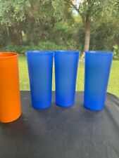 3 TUPPERWARE BLUE STACK ABLE CUPS
