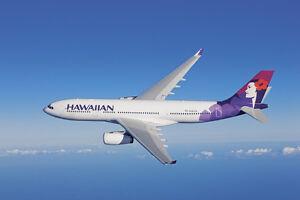 HAWAIIAN AIRLINES AIRBUS A330 AIRCRAFT POSTER PRINT 24x36 HI RES 9MIL PAPER