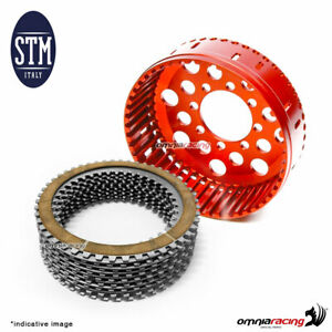 Dry basket + clutch plate set STM Z48 for OEM clutch high size for  Ducati 1198
