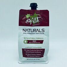 Splat Naturals Semi-Permanent Hair Color Red Best for Brunettes Vegan 6 oz