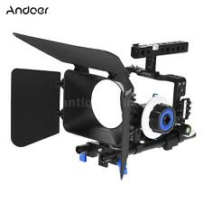 DSLR Camera Cage Video Stabilizer 15mm Rod Rig Matte Box SONY A6000 A6300 A6500
