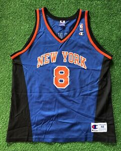 Vintage Champion 90s NBA New York Knicks Jersey Sprewell Men's 48