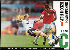 Football Maxicard 1996 Germany V Czech Republic Unused #C26336