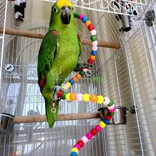 Pet Bird Parrot Swing Toys Cage Hanging Chew Bite Parakeet Cockatiel Cockatoo