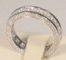 Wedding Ring White Gold Platinum finish 2.50 Ct Princess Diamond Eternity Band