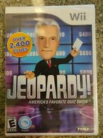 RARE NEW Nintendo Wii Jeopardy! Game w/ Alex Trebek Factory Sealed Up To 3 Plyrs