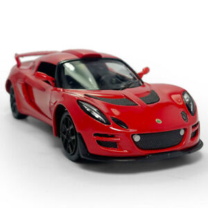 1:26 Lotus Cars Exige Scura Model Car Diecast Toy Vehicle Kids Pull Back Red