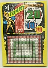 Trade Stimulator Tommy the Great Vintage Gambling Punch Board Card RARE NOS