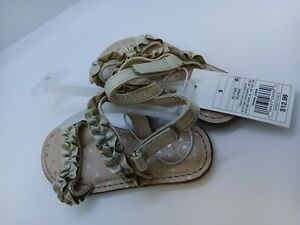 NWT Toddler Girls Cat & Jack Irisa Slide Sandals Gold Shoes - Size 9, 11, 12