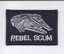 "2 X 3"" Star Wars REBEL SCUM Millennium Falcon Embroidered Iron On Patch"