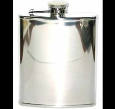 Coyote PLAIN CHROME Flask 6oz Stainless Steel