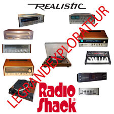 Ultimate Realistic Radio Shack  Audio Owner, Repair & Service Manuals DVD manual