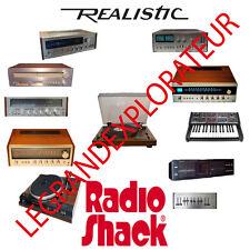 Ultimate Realistic Radio Shack  Audio Owner, Repair & Service Manuals DVD manual