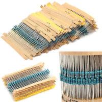 300PCS 30 Values 1/4W 1% Metal Film Resistors Resistance Assortment Kit Set TR
