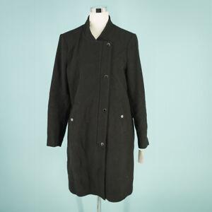 Andrew Marc Size 14 Coat Jacket Black Emerson Mixed Media Wool Blend Full Zip