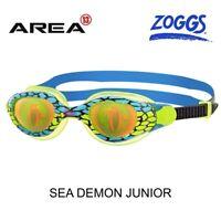 ZOGGS SWIMMING GOGGLES SEA DEMON JUNIOR 6 - 14 KIDS, GREEN/BLUE CHILDREN'S SWIMM