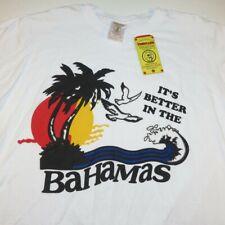 NEW NWT THRILLER BANANA IT'S BETTER IN THE BAHAMAS BEACH TEE T SHIRT Sz Mens L
