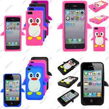 Coque Housse Etui Silicone Souple Pingouin Apple Serie iPhone 6 Plus 5 5S 4 4S 3