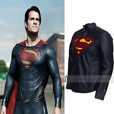 Man Of Steel Smallville Superman Costume Blue Mens Fashion Leather Jacket