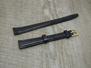 Ladies Rotary Original Black,13mm,Super Croc Grain Leather Watch Strap & Buckle