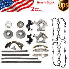 Full Kit Timing Chain Tensioner Gasket For Audi A6 A4 A6 Q7 A8 R8 2.4L 3.2L BDW