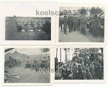 4 Fotos Frankreich Westfeldzug 1940 Gefangene Panzer Halbkette Luftwaffe Gräber