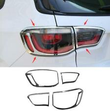 ABS Chrome Rear Headlight Frame Cover Trim 4pcs Fit For Jeep Compass 2017-2019