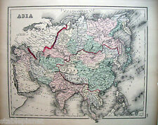 1881 ASIA * O.W. GRAY China Siberia Mongolia Japan Siam India Turkistan Luzon