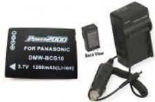 Battery + Charger f/ Panasonic DMCZR1S DMCZR1W DMCZR3