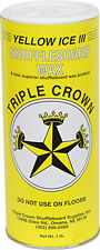 TABLE SHUFFLEBOARD POWDER WAX - TRIPLE CROWN YELLOW ICE III - 6 PAK -BEST SELLER