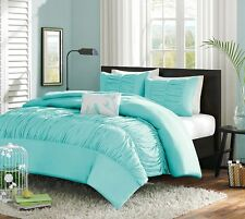 Turquoise Blue Aqua Girls Twin Single Comforter Set, 3 Piece Bed In A Bag, New~