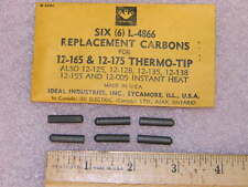 (6) Ideal Industries L-4866 Replacement Carbon Tips 12-165 and 12-175 Thermo-Tip