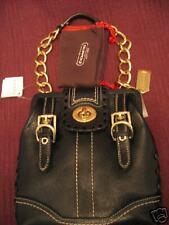 COACH Hamptons Vintage leather demi BLACK 11365 NWT+rec