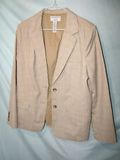 Covington Multi-Color Brown Plaid Polyester Pant Suit Size 12 Waist 33 Inseam 31