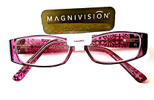 +1.50 Magnivision Foster Grant POSH Women's Reading Glasses Purple Spring Hinges