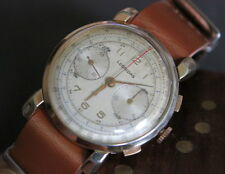 Very Rare LEONIDAS Big - 38 mm Swiss Vintage Chronograph from the 1940's !