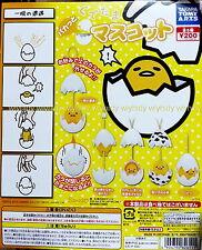 Sanrio Gudetama Mini Figure Strap Complete 5pcs - Takara Tomy Gashapon , h#8