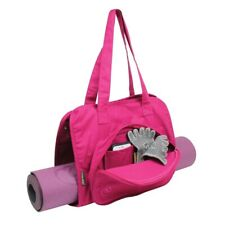 Fitness Mad Yoga and Pilates Mat Carry Case Gym Kit Bag in Pink