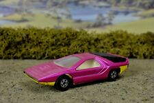 R&L Diecast: Loose/Playworn Matchbox No.75 1970 Alfa Carabo, Pink/Yellow Chassis