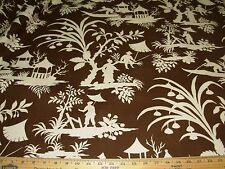 """~2 3/8 YDS~ROBERT ALLEN~ASIAN ORIENTAL""""TOILE""""~COTTON UPHOLSTERY FABRIC FOR LESS~"""
