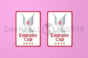 Arsenal Emirates Cup 2015 Sleeve Soccer Patch / Badge