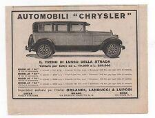 Pubblicità epoca 1927 CHRYSLER AUTO CAR advertising werbung publicitè reklame
