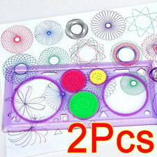 2 X Ruler Spirograph Geometric Ruler Drafting Art Drawing Toys Set Kids Gift