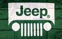 Jeep Logo Flag 3x5 ft Banner CJ5 CJ7 AMC Cherokee Wagoneer J10 J20 Renegade