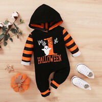 1st Halloween Newborn Baby Boy Hooded Romper Bodysuit Jumpsuit Clothes Outfits