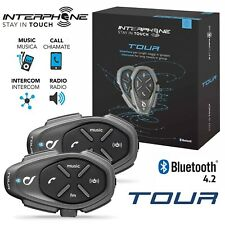 INTERFONO MOTO CASCO BLUETOOTH INTERPHONE TOUR RADIO KIT DOPPIO CELLULAR LINE