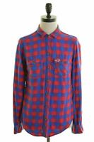 HOLLISTER Womens Flannel Shirt Size 6 XS Multi Check Cotton  K105