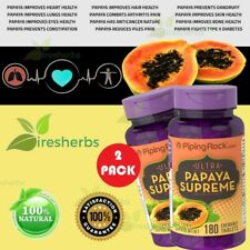 Papaya Enzyme Protease Amylase Digestion Constipation Dandruff Supplement 360Tab